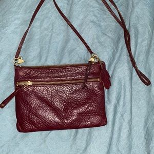 Roots Leather Crossbody Bag